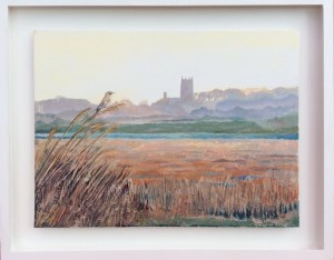 Blakeney Church with Reed Acrylic on board