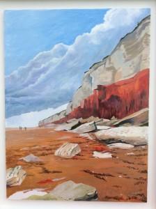 Hunstanton Cliffs Acrylic on canvas