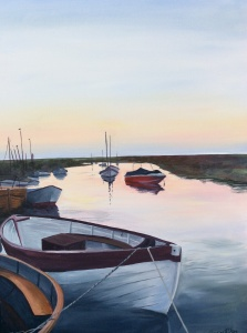Blakeney Acrylic on canvas 46x61cms