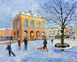 Abingdon market square Acrylic 59x50cms framed £290