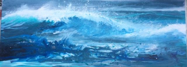 Sea and spray 80x30cms £180